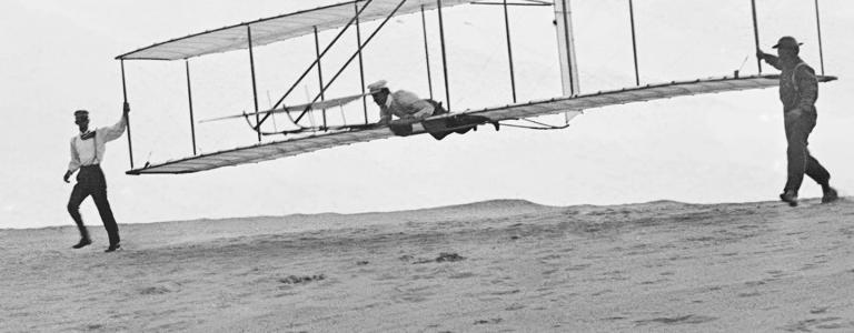 Wright Brothers Glider test, 1902