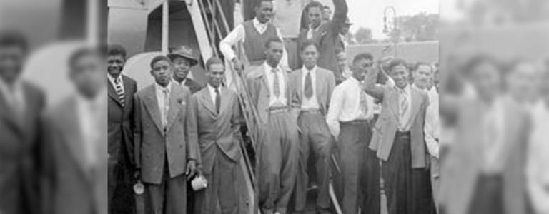 Jamaican passengers disembark the HMT Empire Windrush at the Port of Tilbury, June 1948 | Wikipedia
