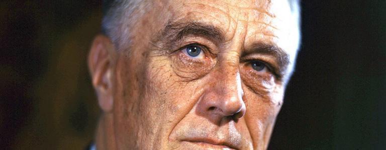 1944 Color portrait of Franklin Delano Roosevelt  FDR Presidential Library & Museum   Public Domain