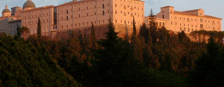 The 17th century Benedictine Monte Cassino Monastery was left in ruins but was subsequently rebuilt after WW2