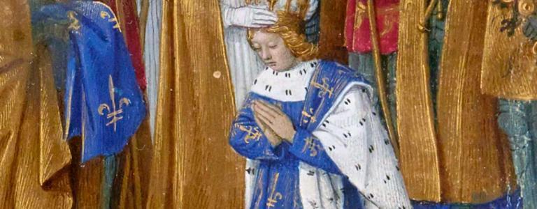 The coronation of Charles VI