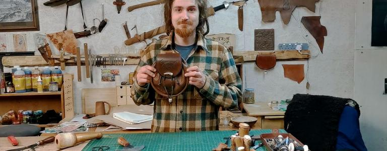 Leather worker Hamish Lamley