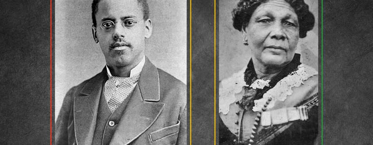 Photograph of Lewis Latimer and Mary Seacole
