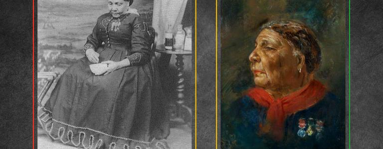 A photograph and painting of Mary Jane Seacole