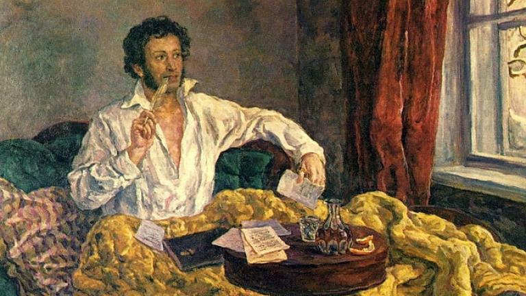 Pushkin at the Mikhailovsky by Pyotr Konchalovsky